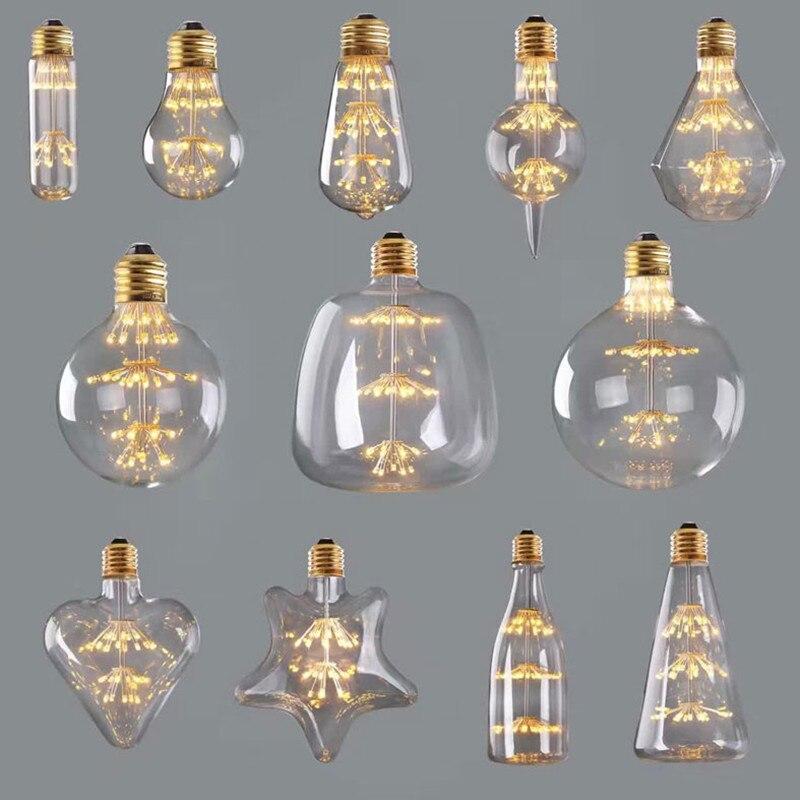 Creative retro light LED bulb 3W E27 lamps light bulbs Hotel wedding Bedroom living room decorative lighting