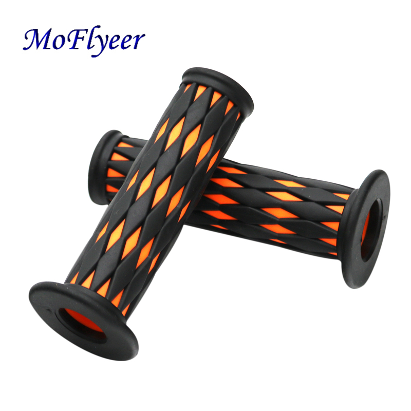 MoFLyeer Motorcycle Handle Grips With Pattern And Antiskid Function For Motorcycle High Quality