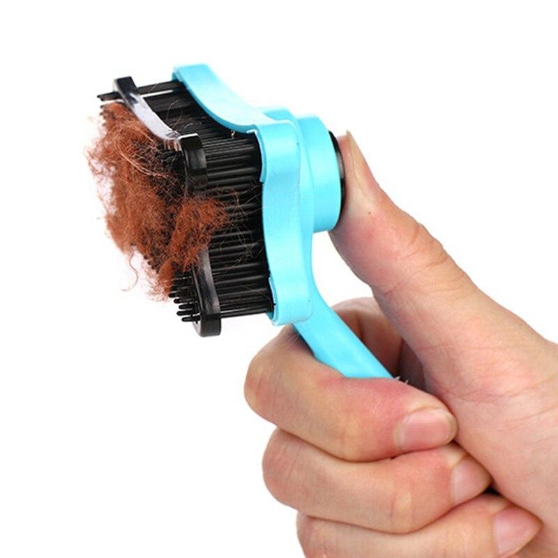ПЭТ Груминг Собак и котов самоочищающийся плетеная расческа для волос Меховой инструмент для обработки шерсти животных высокого качества