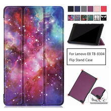 Slim Magnetic Folding cover case For Lenovo Tab E8 8 inch TB-8304F1 TB 8304 PU Leather Stand Cover TB-8304F Case