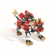 HSANHE 6218 Sacred Union Series Stealth Flame Lion Educational Diamond Bricks Minifigures Building Best Toys