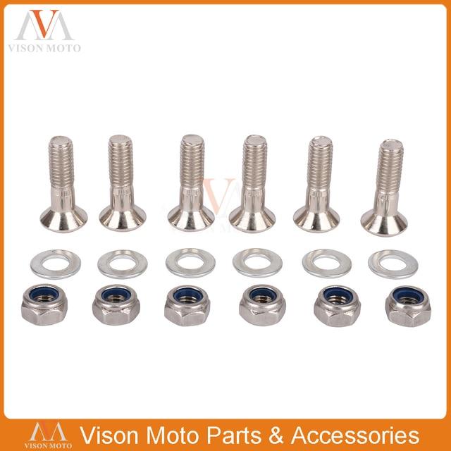 Universal de piñón pernos tuercas platos y bielas de sillín tornillos para KTM, Honda, Kawasaki, SX XC XCF FCI YZF FRM rxf KLX RM RMZ