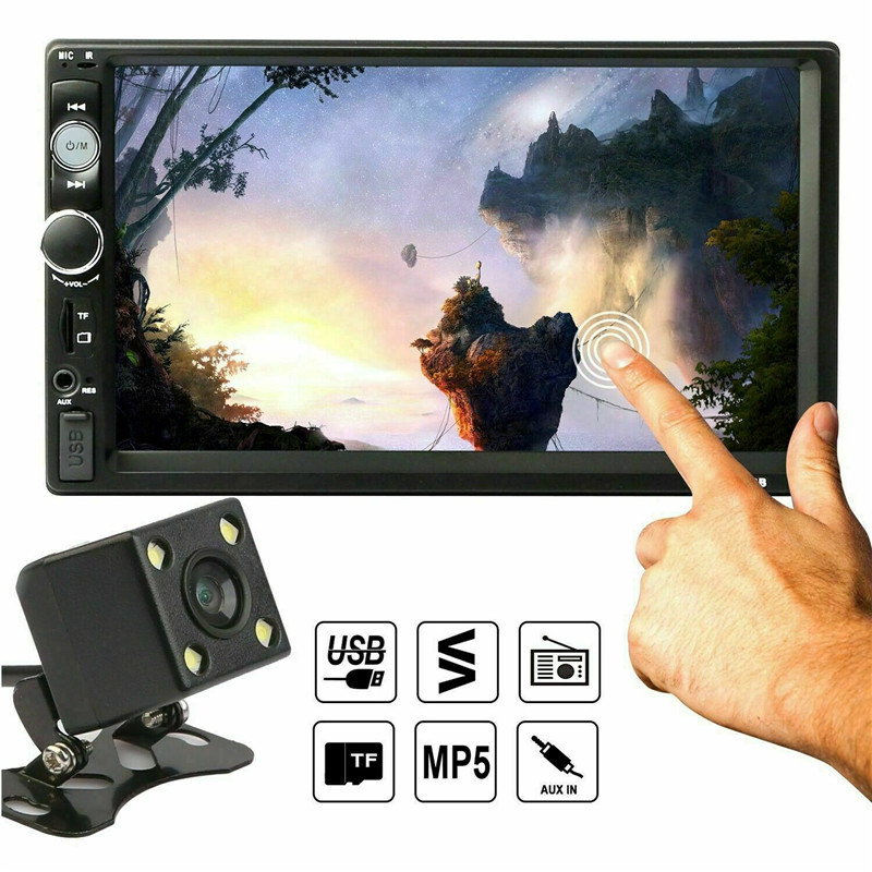 7 pouces HD LCD écran tactile Bluetooth voiture stéréo MP5 lecteur musique film FM Radio Android IOS arrière caméra écran