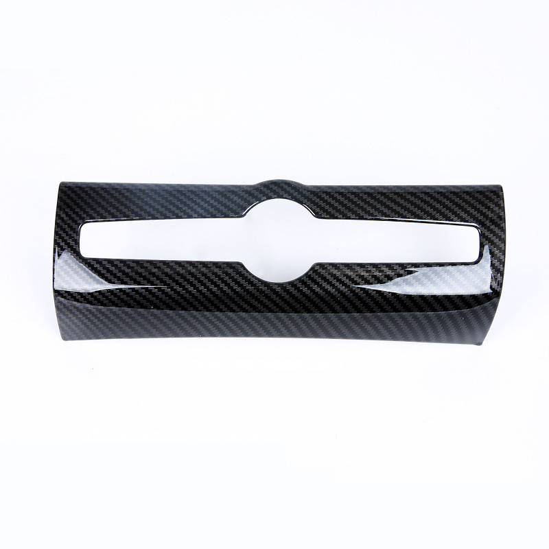 Car Dashboard Central Control Panel Air Conditioner Switch Decorative Cover Trim Stickerfor Volvo <font><b>XC60</b></font> 2018 <font><b>Carbon</b></font> Fibre Black image
