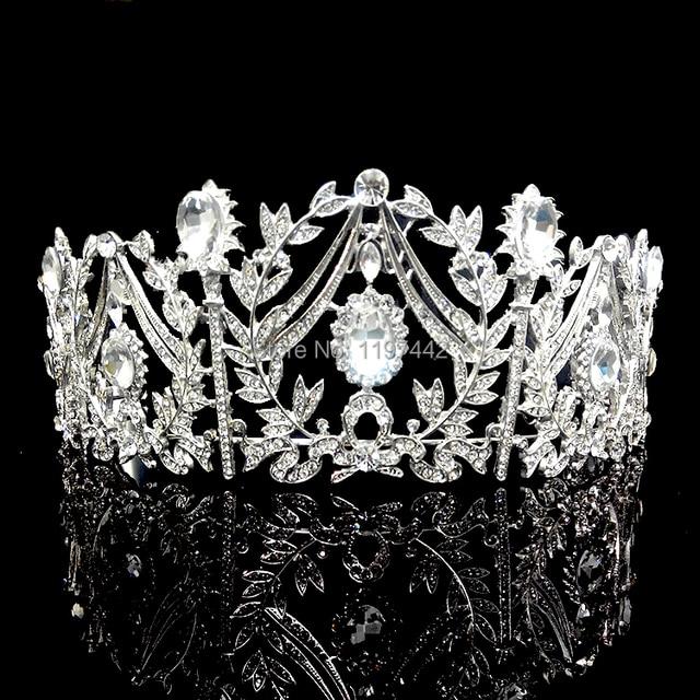 Luxury bridal big crown Princess Palace Crowns Bridal Headdress Large Wedding hair Accessories Shiny bridal tiaras