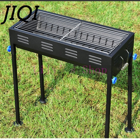 Household stainless steel BBQ outdoor grill charcoal Roasting Brazier stove barbecue tools for Camping 5-15 people picnic hewolf portable size outdoor camping beach bbq barbecue grill rack household use lightweight folding picnic rack stand well sell