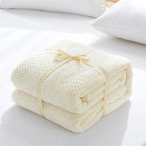 Image 5 - Parkshin franela piña manta avión sofá Oficina adulto uso manta coche cubierta de viaje manta para sofá cama sábana