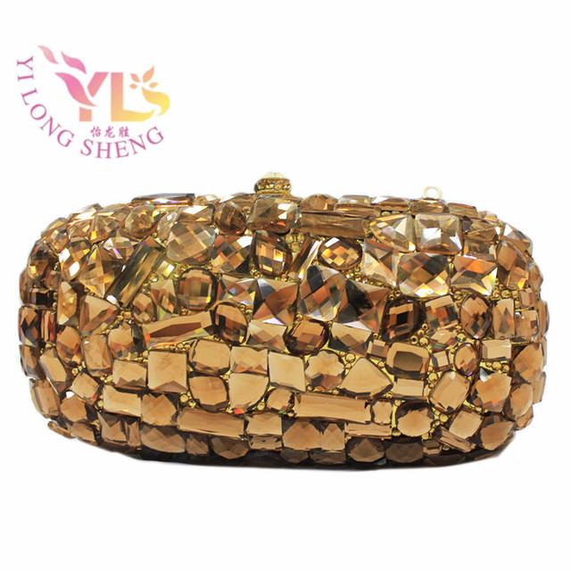 f48efebfb0 Gold Clutches Evening 2017 NEW Women s Fashion Rhinestone Evening Clutches  Hard Case Clutch Handbag in Gold Color YLS-G06