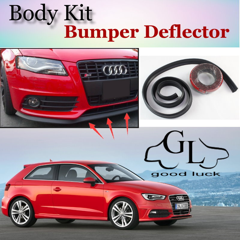 Bumper Lip Lips For Audi A3 S3 RS3 1996~2015 / Car Lip Shop Spoiler For Car Tuning / TOPGEAR Recommend Body Kit + Strip