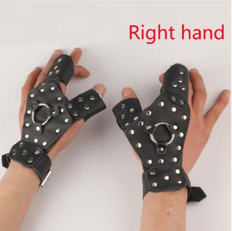 Left/Right hand guard protector for fishing slingshot safety glove steel detachable protective archery shooting hunting 3