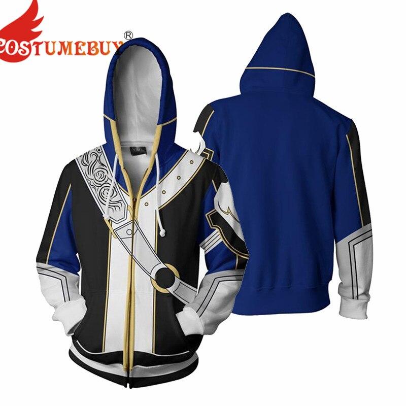 CostumeBuy Game Fire Emblem Roy Cosplay Costume Hoodies Jacket Sweatshirt 3D Printing Zipper Coat Hoodie Sweater Plus Size 5XL