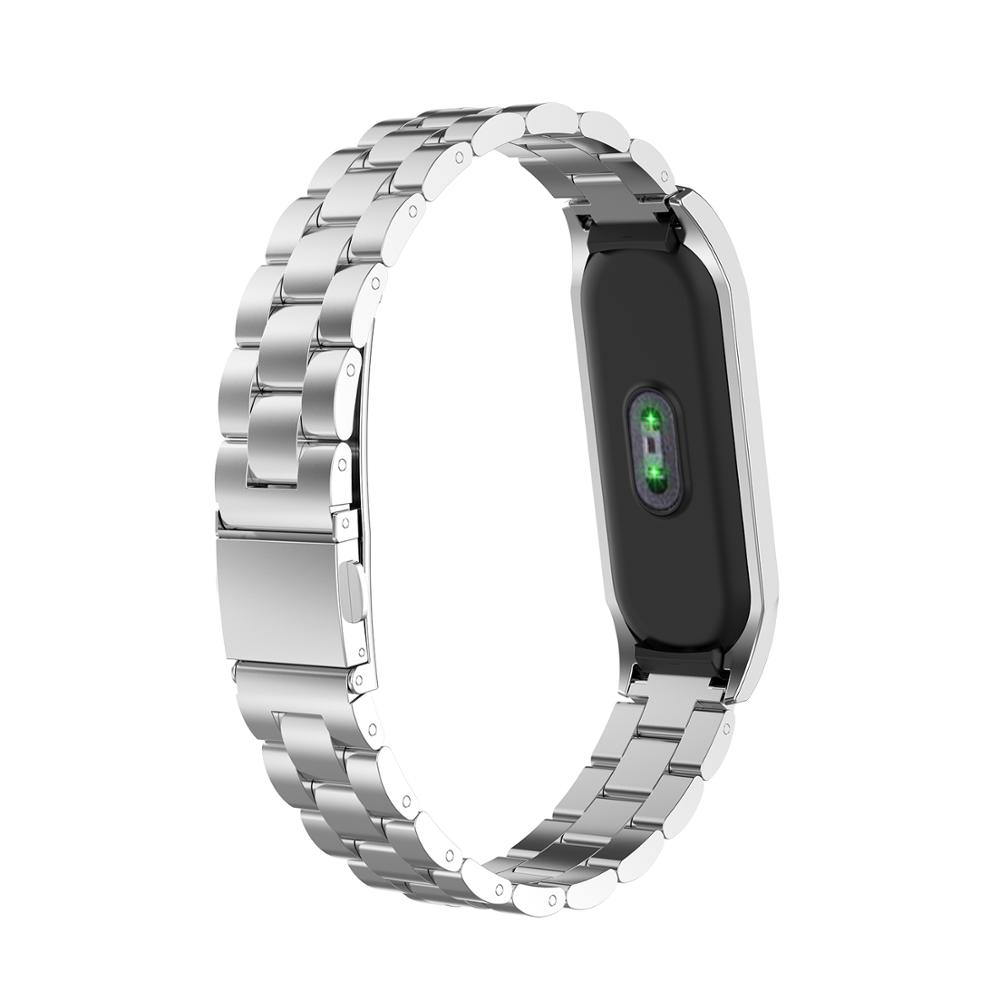 Mi band 4 Metal Strap for Xiaomi Mi Band 4 Bracelet Screwless Xiaomi MiBand4 Bracelet Xiomi MiBand 4 Wrist Band Steel black band in Smart Accessories from Consumer Electronics