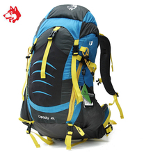 Famous Brand 45L Sporttas Outdoor Sports Walking And Hiking Backpacks Bag For Camping Travel Climbing Trekking Backpack Bags jungleking 2017 new men and women sports and leisure bags 45l outdoor mountaineering bags outdoor camping backpacks shoulder bag