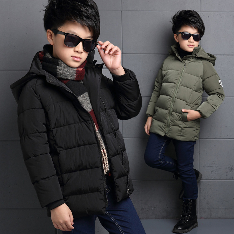 ФОТО The New 2016 Han Edition Child Hands Tucked Cotton Quilted Jacket Boy Winter Children Children's Cotton Baby Clothes