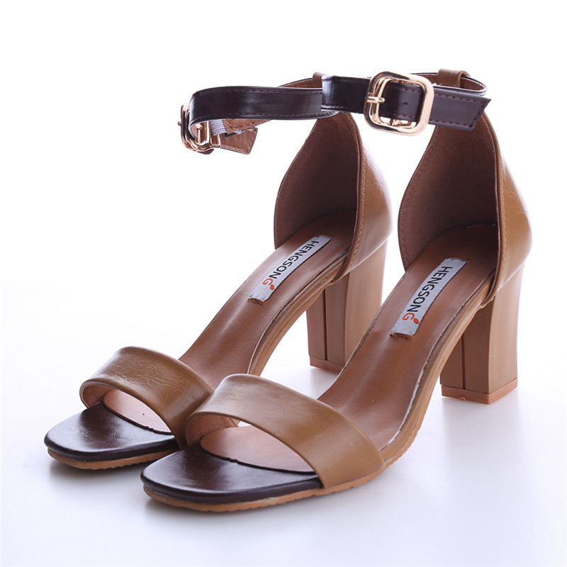 New High Heels Women Sandals 2017 Summer Beach Sandals Buckle Strap fish mouth Sandals Sexy Thin Open-toed Shoes Women OR915531 new listing hot sales summer fashion brand sexy women fish mouth high heels sandals women shoes pumps height 9cm 3603