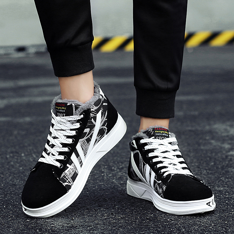 Plus Size 11 Men's Winter Sneakers Casual Plush Canvas Shoes Keep Warm Footwear Male Adult Fashion Krasovki Man Zapatos Hombre