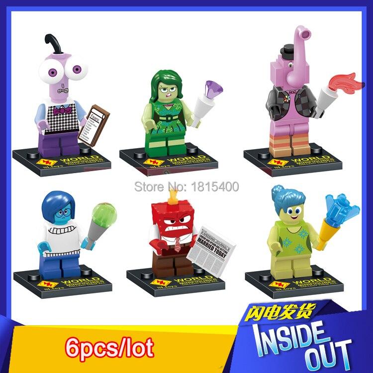 2015 Movie Toys Doll Inside Out Anime Action Figure Kids DIY Toys Plastic Building Blocks Bricks