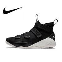 Оригинальные Nike Оригинальные кроссовки LEBRON SOLDIER 11 мужские баскетбольные кроссовки голяшка средней высоты спортивные уличные кроссовки 2018 ...