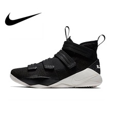 42816440258d Original Authentic Nike LEBRON SOLDIER 11 Men Basketball Shoes Medium Cut  Sports outdoor Sneakers 2018 New