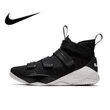 73f8c8f3 Original auténtico Nike LEBRON soldado 11 hombres zapatos de baloncesto  zapatillas de deporte de corte medio
