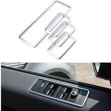 ABS Chrome Voiture Porte Fenêtre Bouton Panneau De Couverture Décoration Pour Land Rover Range Rover Sport 2014 Intérieur Accessoires