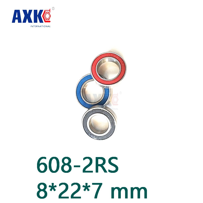 Axk 608 Hybrid Ceramic Bearing 8*22*7 Mm 2 Pcs Bicycle Bottom Brackets & Spares 608-2rs Rear Wheel 608rs Si3n4 Ball Bearings все цены