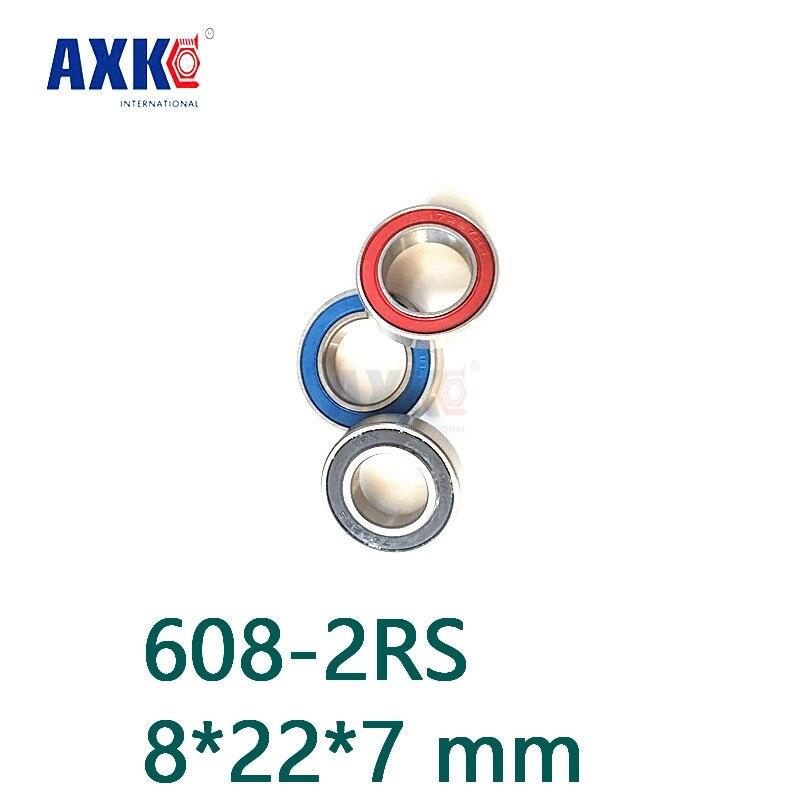 Axk 608 Hybrid Ceramic Bearing 8*22*7 Mm 2 Pcs Bicycle Bottom Brackets & Spares 608-2rs Rear Wheel 608rs Si3n4 Ball Bearings