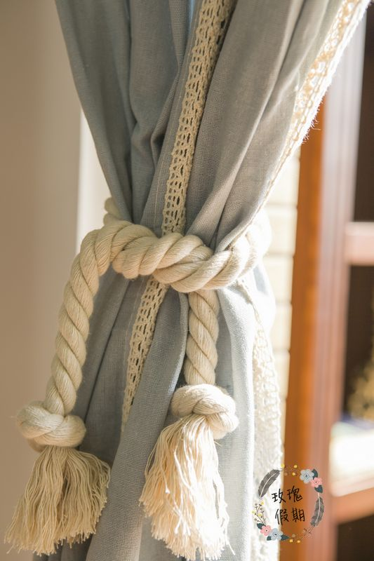 ZHH 1 дана Twisted арқан Curtain Tieback Holdbacks - Үйдің декоры - фото 1