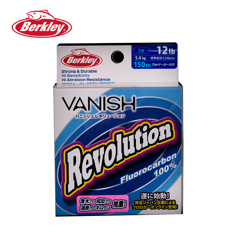 Berkley Vanish Fluorocarbon Fishing Line 100/% Fluorocarbon Refracts Light NEW