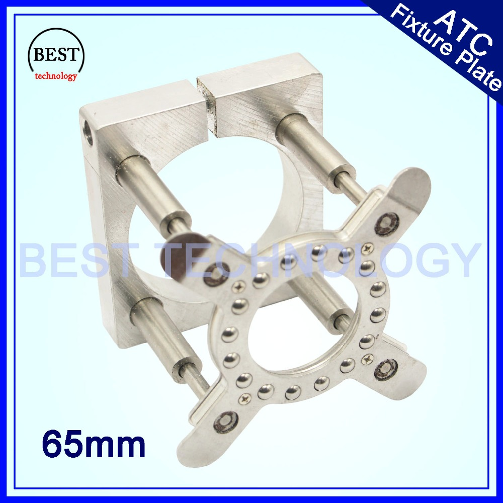 Spindle Motor Clamping Bracket Diameter 65mm Automatic Fixture Plate Device for water cooled air cooling CNC