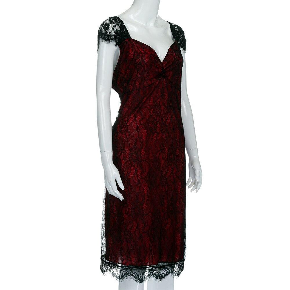 aee91d346ebd8 Super Big Size XXXXXL Dress Women V neck Short Sleeve Lace Long ...