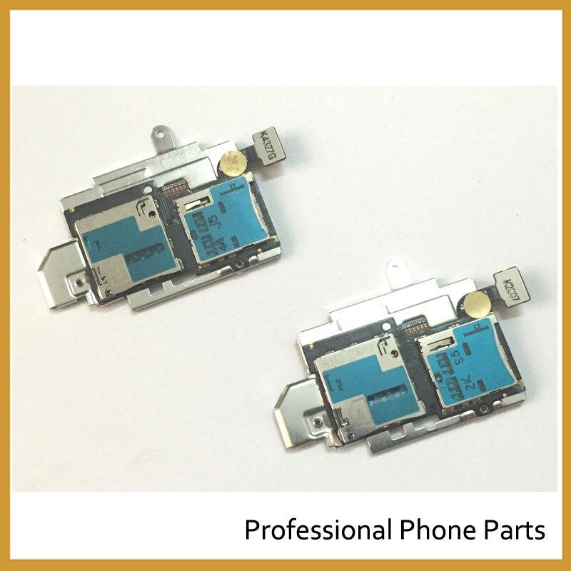 10pcs/lot Original New SD Sim Card Holder Slot Tray Flex For Samsung Galaxy S3 I9300 Sim Flex Cable