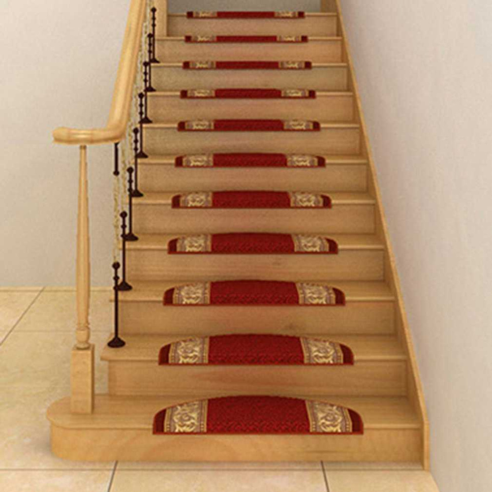 1PC Anti-Slip Self-adhesive Floor Staircase Carpet Home Office Hotel Decoration Stair Tr ...