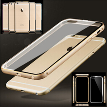 I5 Dual Layer Heavy Duty Shell Metal Aluminum Frame Flexible Hard PC Cover Crystal Transparent Clear