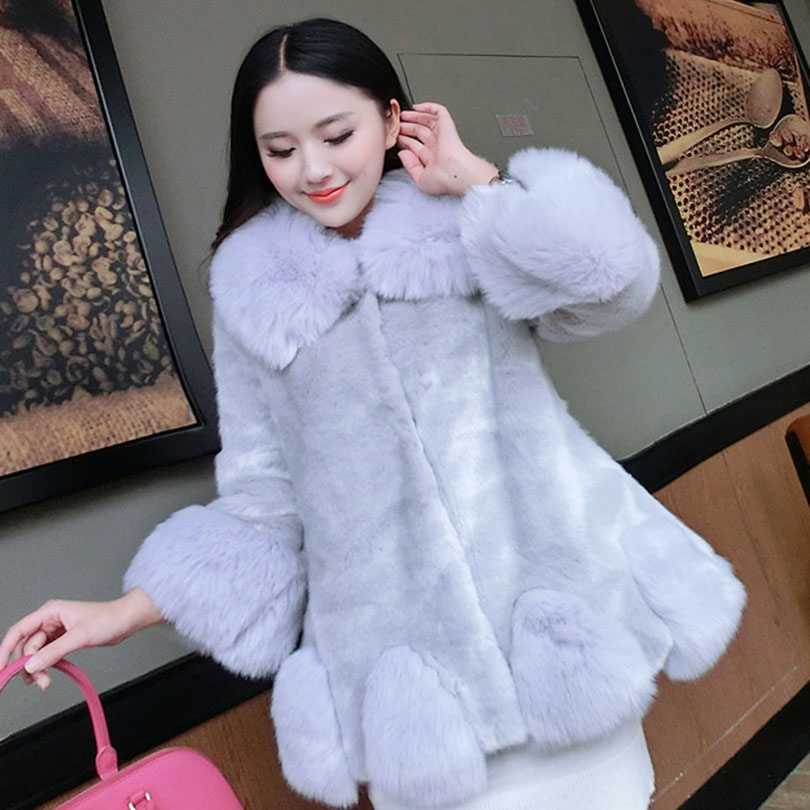 c4dbfc2807cc Women Winter Faux Fur Coat Luxury Imitation Arctic Fox Long Coat Fashion  Noble Faux Fur Coat Thick Comfortable Warm Outwear-in Basic Jackets from  Women's ...