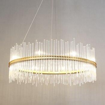 Nórdica colgante luces personalidad redondo moderno decorativo de moda luces salón bar de cristal lámpara colgante SJ20 ya75