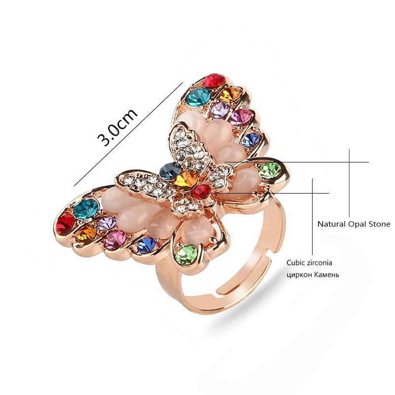 Aliexpress.com : Buy KCALOE Fashion Big Butterfly Rings For Women ...