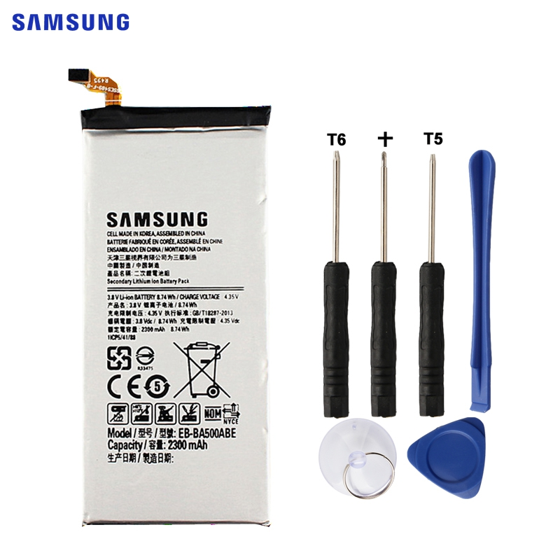 SAMSUNG Originale del Rimontaggio Della Batteria EB-BA500ABE Per Samsung GALAXY A5 2015 Autentico Batteria Del Telefono EB-BA500ABE 2300 mah