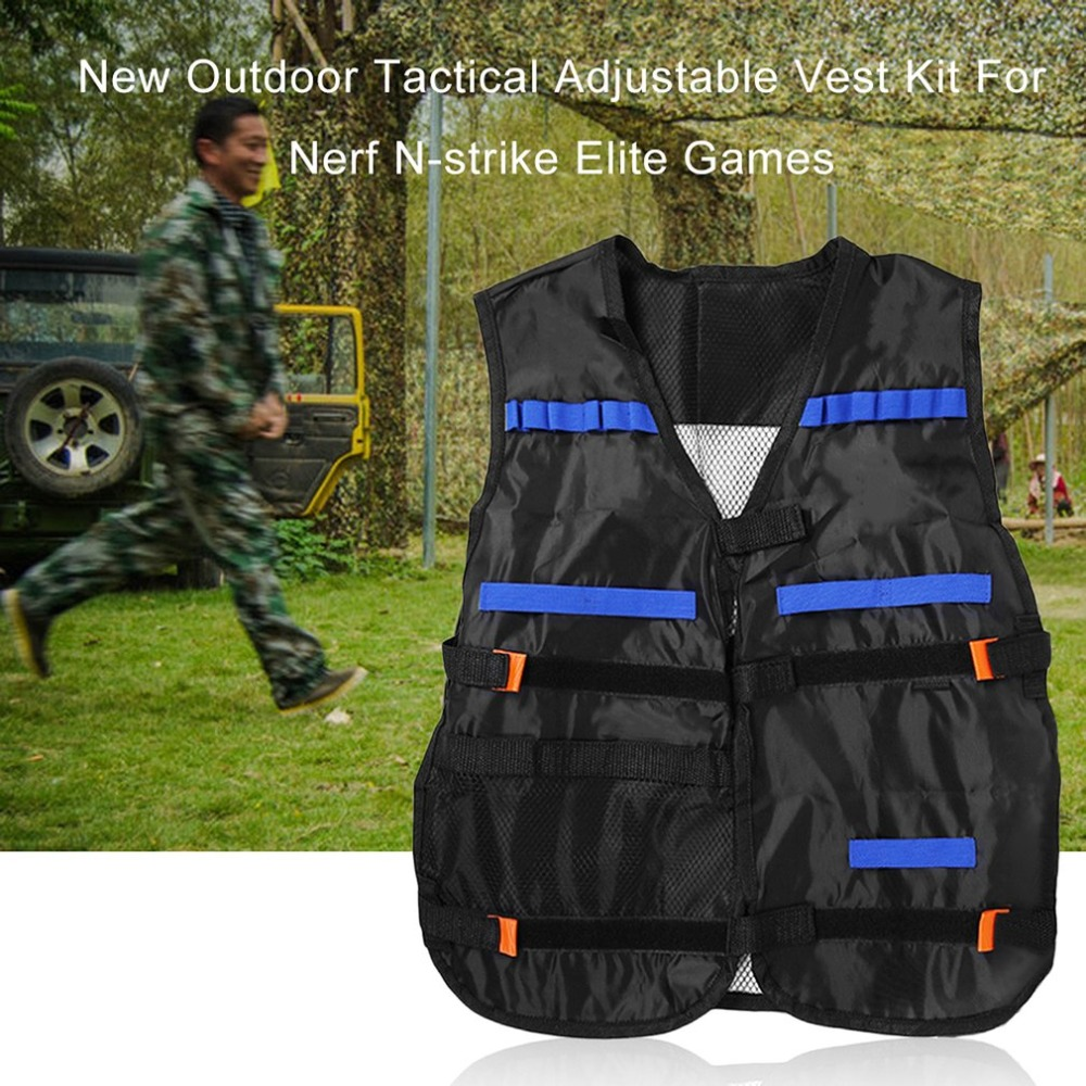 54*47cm New colete tatico Outdoor Tactical Adjustable Vest Kit For Nerf N-strike Elite Games Hunting vest Top Quality оружие игрушечное hasbro hasbro бластер nerf n strike mega rotofury