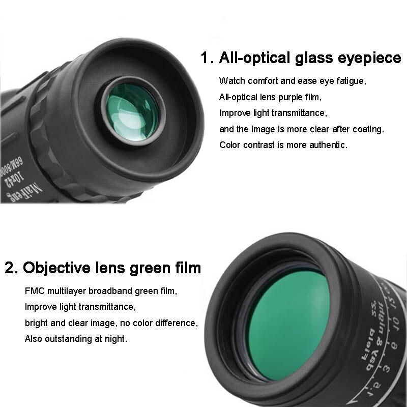 Image 4 - Portable Telescope 40x60 Military HD Professional Monocular Zoom Binoculars Night Hunting Optic Scope Big Vision Telescopio-in Monocular/Binoculars from Sports & Entertainment