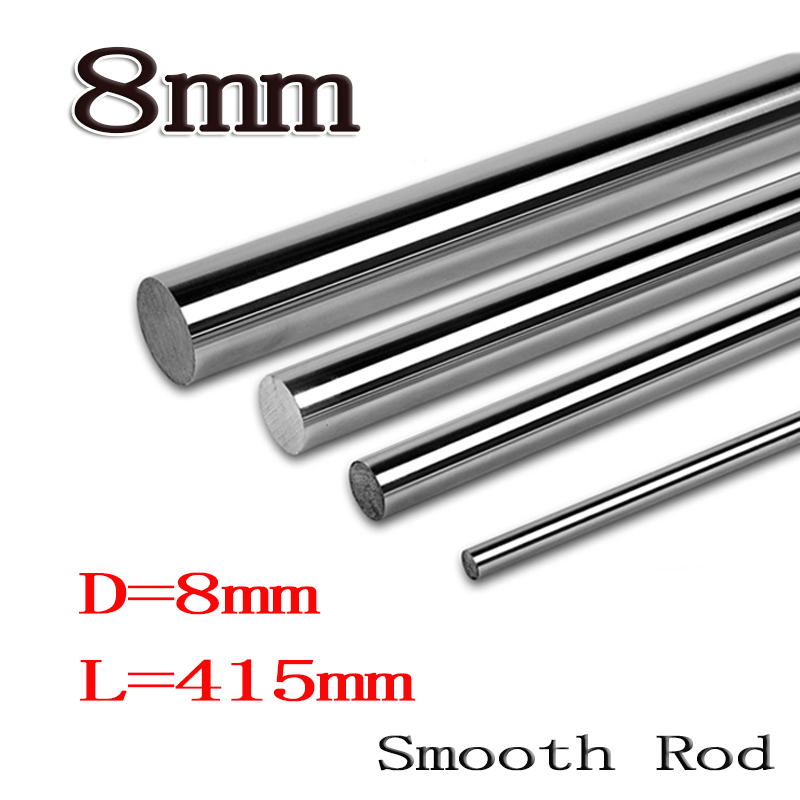 2pcs/lot 8mm linear shaft 8mm LM Shaft diameter  415mm long for LM8UU 8mm linear ball bearing linear smooth rod 8mm linear shaft group 33pcs l350mm 33pcs l405mm 33pcs l420mm for 8mm rod shaft lm8uu