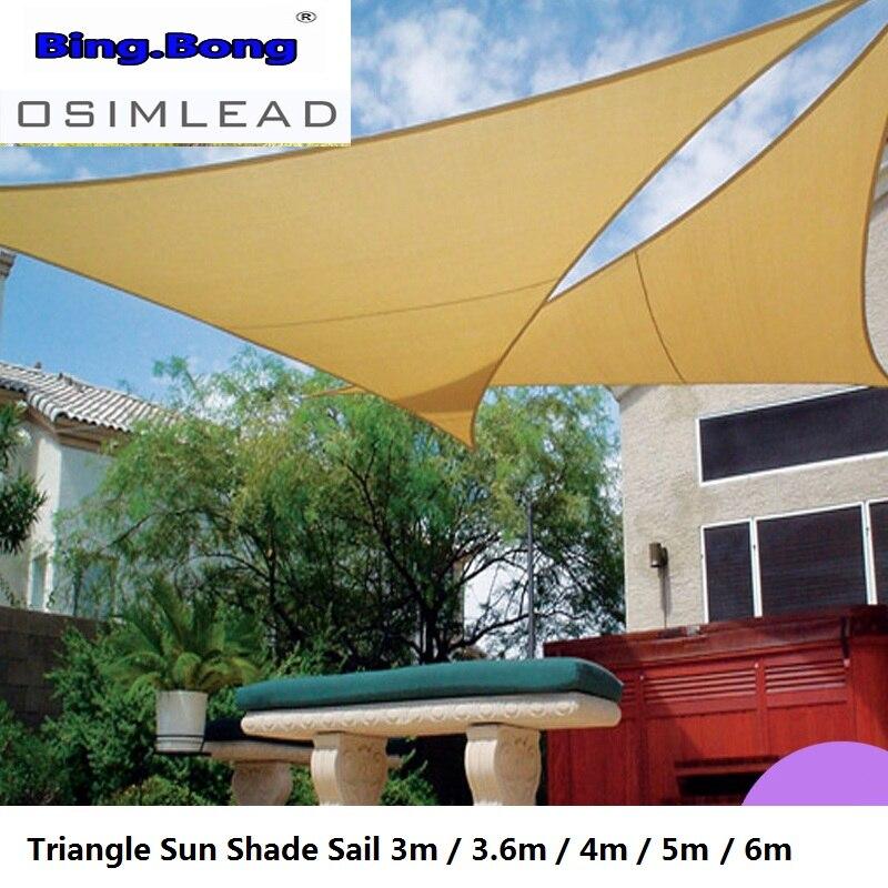 Waterproof Sun Shade Sail Garden Patio Awning Canopy Sunscreen Cover 3m 3.6m 4m