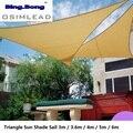 Открытый солнцезащитный козырек парус HDPE треугольный тент парус 3 м 3 6 м 5 м серо-коричневый козырек от солнца навес для сада патио тенты пару...