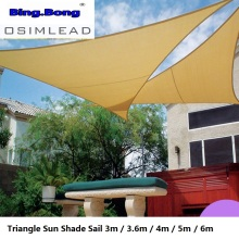 Outdoor Sun Shade Sail HDPE Triangular Shade Sail 3m 3.6m 5m Taupe Sun Shelter Canopy Garden Patio Awnings Canvas Shading Cloth все цены