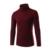Suéter Hombres 2016 Autunm/Marca Primavera hombres de cuello Alto Suéter de Punto Que Basa Cuello de Cobertura de Manga Larga Masculina pullover