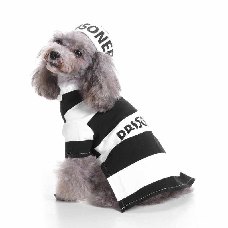 Halloween Dog Pet Clothes Prison Pooch Dog Costume With Hat Costume Collections Holy Hound Dog Costume Pet clothing