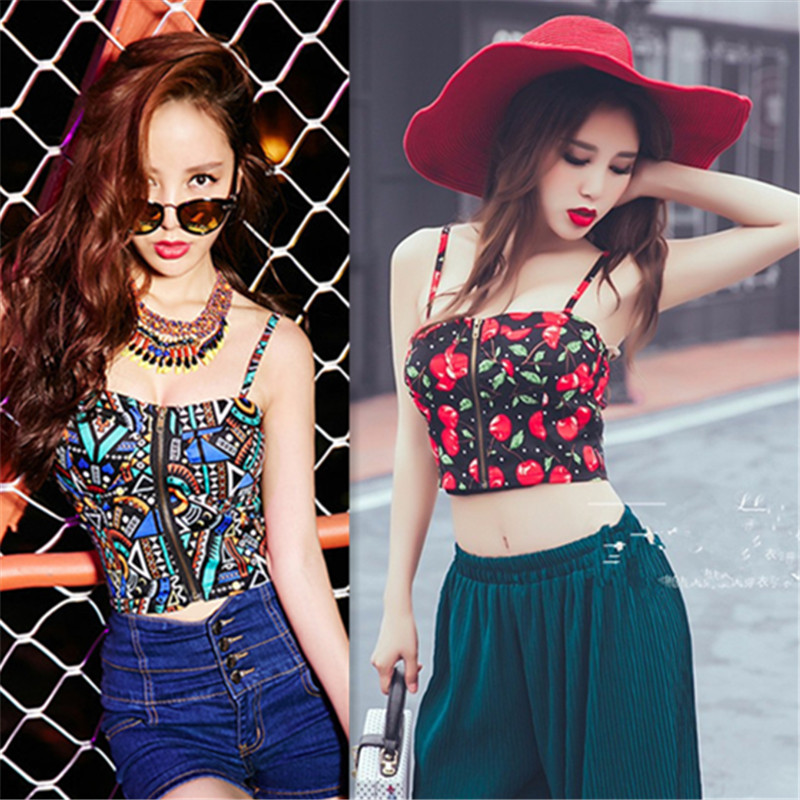 Women Tops Summer 2018 Off Shoulder Top Cropped For Spaghetti Strap Bra Bustier Corsets Vest Camisole Tube Tanks Navy Blue White