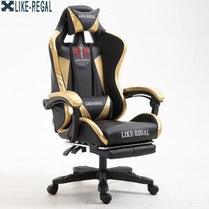 Image 3 - Бесплатная доставка гоночный синтетический кожаный игровой стул