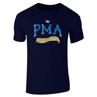 100 Cotton For Shirts O Neck Graphic Short Sleeve Pma Positive Mental Attitude T Shirts For