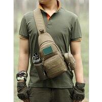 Bolsa de Ombro Militar Saco de viagem Designer de Sacos de Homens Mensageiro Pacote Peito Bolsa de Ombro Bolsas De Luxo dos homens